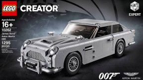 James Bonds Aston Martin DB5 van Lego