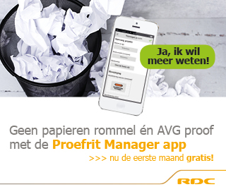 RDC Proefrit Manager app